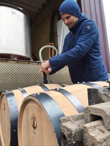 The first barrels of 1911 Established Bourbon, from Beak and Skiff Apple Orchards, in LaFayette, were filled on March 31. The bourbon will age three years, so the first bottles won't be available until 2020.
