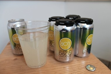 "Disco Lemonade, a ""cocktail-in-a-can"" from the Life of Reilley Distilling Co. in Cazenovia."