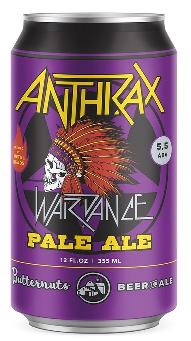 Wardance Pale Ale is made by the Butternuts Beer and Ale brewery in Garrattsville, N.Y. in collaboration with the thrash-metal band Anthrax.