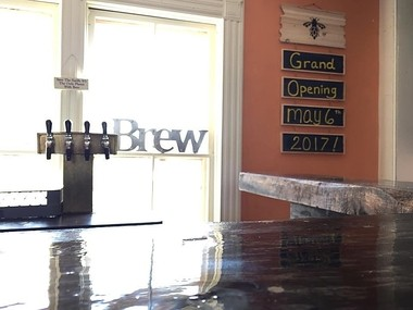 The tap room at Humble Harvest Brewing in Nelson, Madison County.