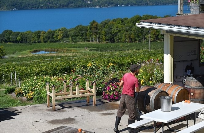 Atwater Estate Vineyards overlooks Seneca Lake on its eastern shore.