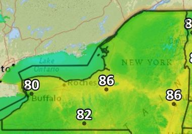 Summer heat will descend on Upstate New York Friday, which could lead to thunderstorms. It won't last, though.