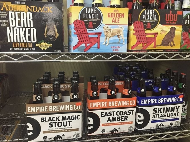 New York state beers on the shelves at Party Source Beverage Center, 2646 Erie Blvd. E. in Syracuse.