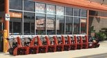 The Home Depot store in Camillus switched seasons today, putting out snowblowers. Farmers' Almanac said it's going to be a cold, snowy winter in Upstate New York. (Photo by Nicholas Paventi)