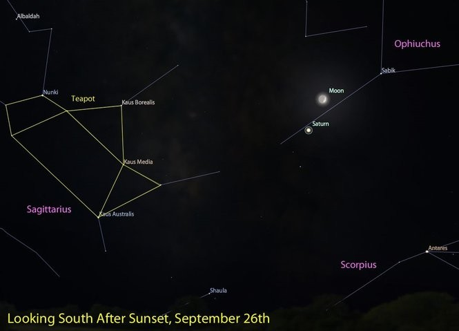 Not sure? It's Saturn and the Moon on Sept. 26.