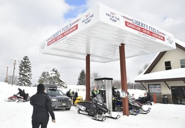 When snow falls, Redfield becomes alive with numerous snowmobilers who contribute greatly to the local economy.