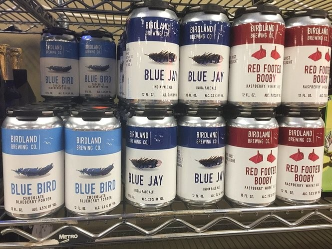 Cans of beer from Birdland Brewing Co. in Horseheads, N.Y. at Party Source Beverage Center, 2646 Erie Blvd. E. in Syracuse.