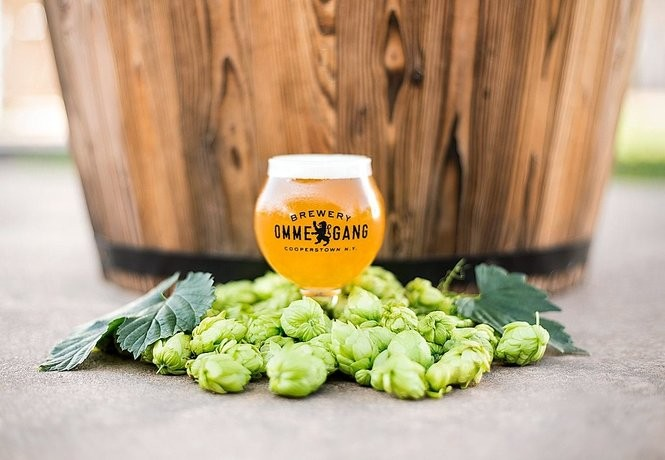 The 2017 Hopstate NY IPA from Brewery Ommegang in Cooperstown is made exclusively with New York-grown hops.