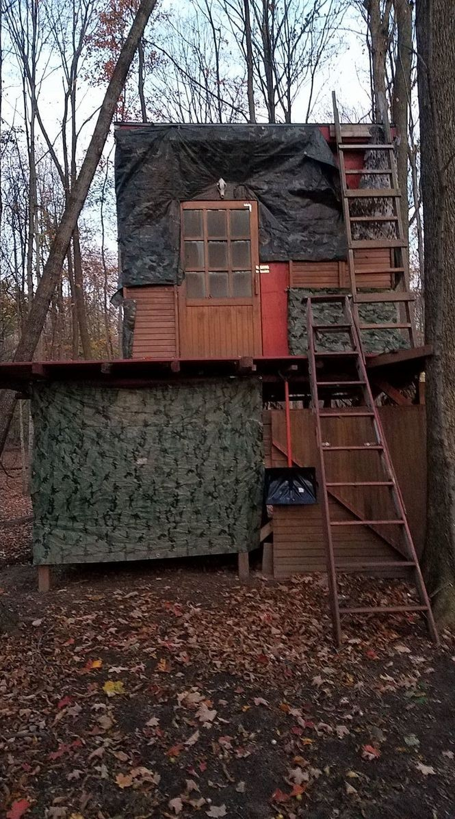 Deluxe Upstate NY deer-hunting stands: Heat, comfy chairs