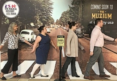 """Guests are encouraged to take a photo at a special """"Abbey Road"""" photo spot."""