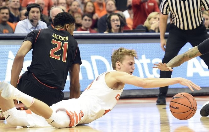 Marek Dolezaj's all-out hustle has quickly made him a fan favorite at Syracuse games.