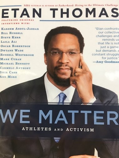 The cover of Etan Thomas' new book We Matter: Athletes and Activism.