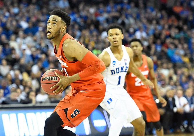 Syracuse forward Oshae Brissett (11) during a Sweet 16 game against Duke on Friday, March 23, 2018, at CenturyLink Center in Omaha, Neb.