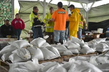The Village of Fair Haven last year put some 6,500 sandbags around Little Sodus Bay to protect properties from flooding.