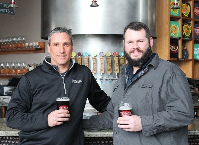 Ithaca Beer Co. president and founder Dan Mitchell, left, and brewing director Andrew Hausman.