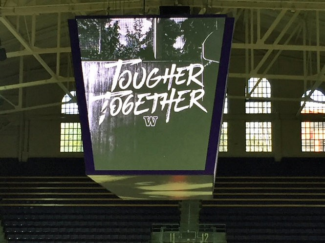 Mike Hopkins has come up with the slogan Tougher Together at Washington.