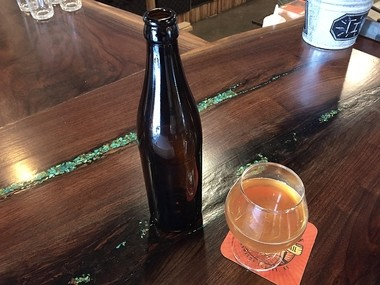 A golden sour ale fermented and aged in a 20-barrel foeder at Good Nature Brewing Co. in Hamilton. It will be packaged in 500-mililiter bottles.