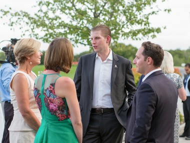 Eric Trump attends the 9th Annual Eric Trump Foundation Golf Invitational Auction & Dinner at Trump National Golf Club Westchester on September 21, 2015 in Briarcliff Manor, New York.