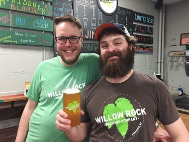 Rockney Roberts, left, and Kevin Williams of Willow Rock Brewing Co. in Syracuse. Willow Rock is working with the Onondaga Historical Association to launch a new version of Syracuse's historic Congress Beer.