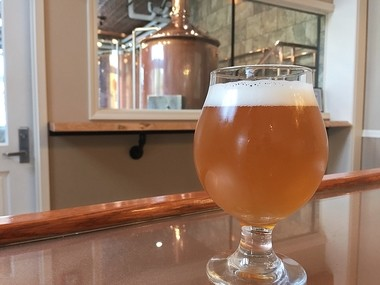 A glass of a Belgian Tripel-syle beer at the Copper Turret Restaurant & Brewhouse in Morrisville, N.Y. The brewhouse is part of the new brewing science degree program at Morrisville State College.