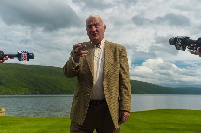 Billionaire Tom Golisano took his fight against New York state tax assessments to the South Bristol Grievance Day Tuesday, May 22, 2018 after battling geese fouling his $6 Million property on Canandaigua Lake. N. Scott Trimble | strimble@syracuse.com