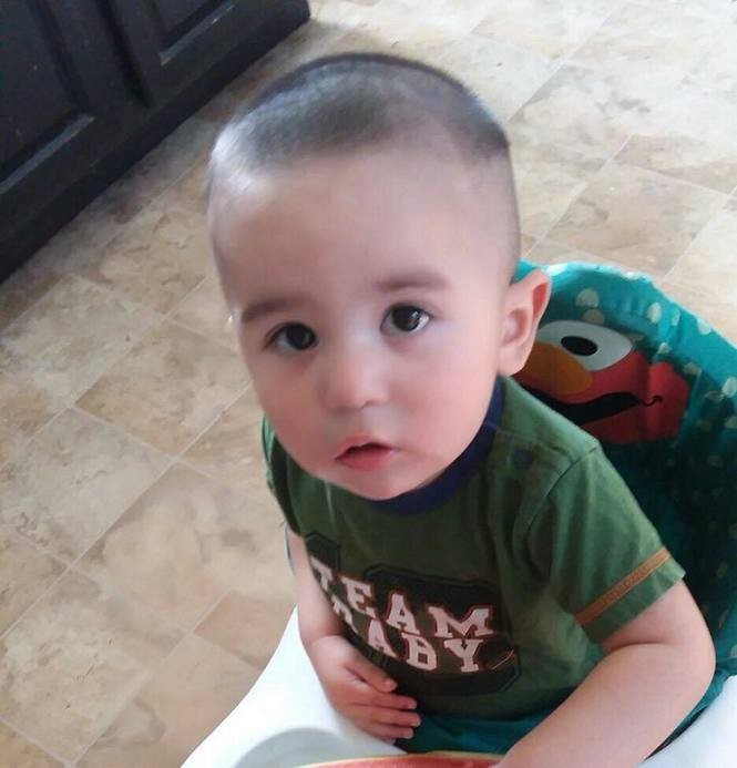 A recent photo of Owen Hidalgo-Calderon, provided by his family. The child is missing and his mother was found dead.