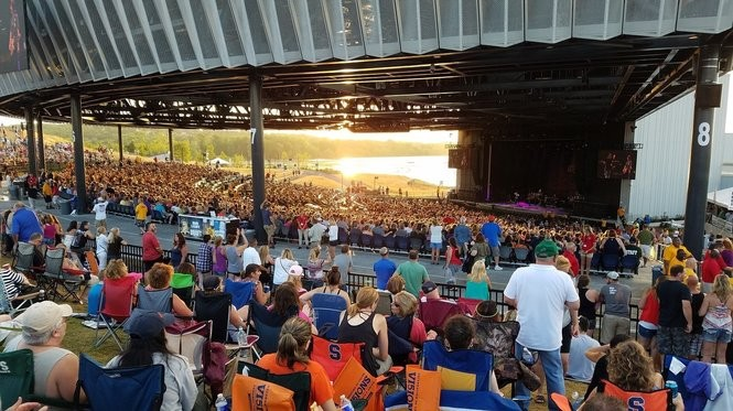The crowd at Lakeview Amphitheater in Syracuse Wednesday, July 13, 2016, to see Dave Mason, The Doobie Brothers and Journey perform. The venue has a capacity of 17,500.
