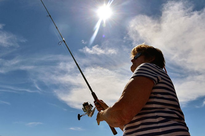 Sherry Whipple said she wants to continue fishing as long as she is able.