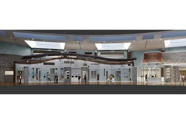 A rendering of the new retail space at The Tower at Turning Stone.