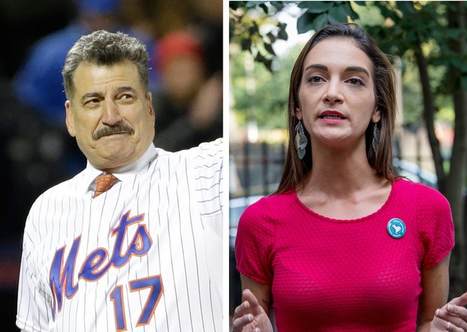 Julia Salazar, right, a Democratic socialist candidate for New York state Senate, claimed in a 2013 lawsuit that she was accused of having an affair with New York Mets baseball legend Keith Hernandez, right.