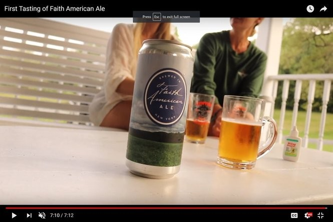Screen shot from Youtube video about actor Kelsey Grammer's Faith American Brewing Co. in Margaretville, N.Y.