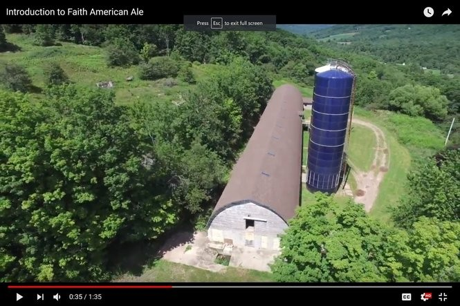 Screen shot from Youtube video about actor Kelsey Grammer's proposed Faith American Brewing Co. in Margaretville, N.Y.