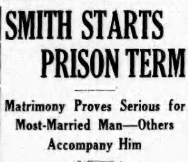 "Watertown's ""most married man,"" John Smith, was sentenced to two-and-a-half years of hard labor after it was discovered he was married to four different women. And he was suffering from tuberculosis."