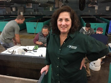Lisa Holst, the DEC's Rare Fish Unit leader