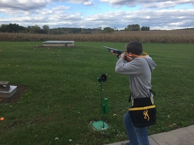 Jayden Anthony, 13, who shoots for the Palmyra-Macedon team, says trap shooting is fun.