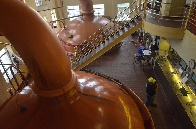 The existing brewhouse at F.X. Matt / Saranac Brewing Co. in Utica features two 500-barrel copper kettles that date to just after World War II.