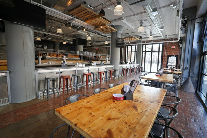 The Draft Room, a full-service bar and restaurant adjoining the Labatt Brew House in downtown Buffalo.