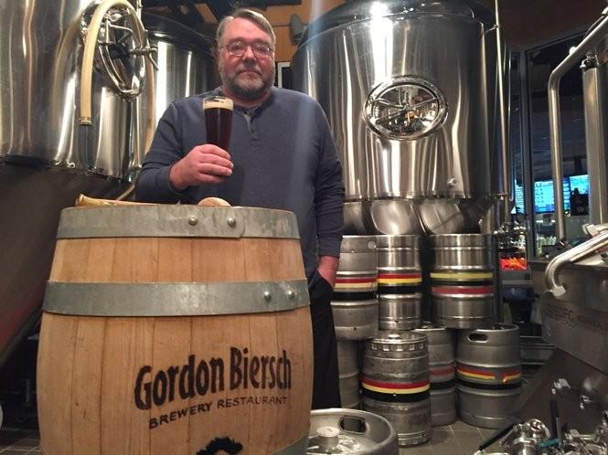 Head brewer Guy Hagner at the Gordon Biersch Brewery Restaurant at Destiny USA in Syracuse.