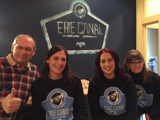 Owners of the Erie Canal Brewing Co. in Canastota: Bob, Brooke, Heidi and Joyce Menikheim.