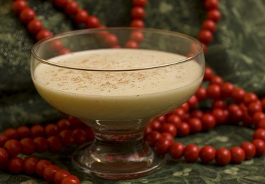 Eggnog, made with whiskey, was drunk by the cadets.