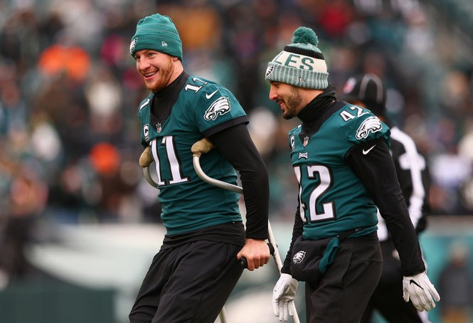 the best attitude 1b70f d931b Eagles injury report: Checking in on Carson Wentz, Brandon ...