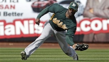 Jai Miller has played for the Florida Marlins, Oakland A's, Kansas City Royals and Baltimore Orioles during his Major League Baseball career. (AP/Lenny Ignelzi)