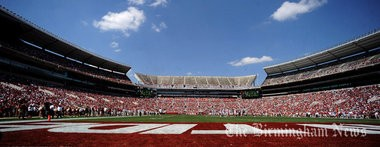 Bryant-Denny Stadium is shown during the A-Day game in Tuscaloosa, Ala., Saturday, April 14, 2012. (The Birmingham News/Mark Almond)