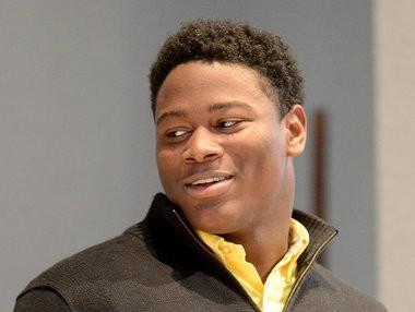 Auburn's Reuben Foster speaks after being named 6A lineman of the year during the Alabama Sports Writers Association Mr. Football awards banquet Wednesday, Jan. 16, 2013, in Montgomery, Ala. (Julie Bennett / jbennett@al.com)