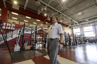 Scott Cochran, Alabama's Director of Strength and Conditioning, shows the media around the new strength and conditioning facility, Wednesday, February 27, 2013, on campus in Tuscaloosa, Ala. (Vasha Hunt/vhunt@al.com)