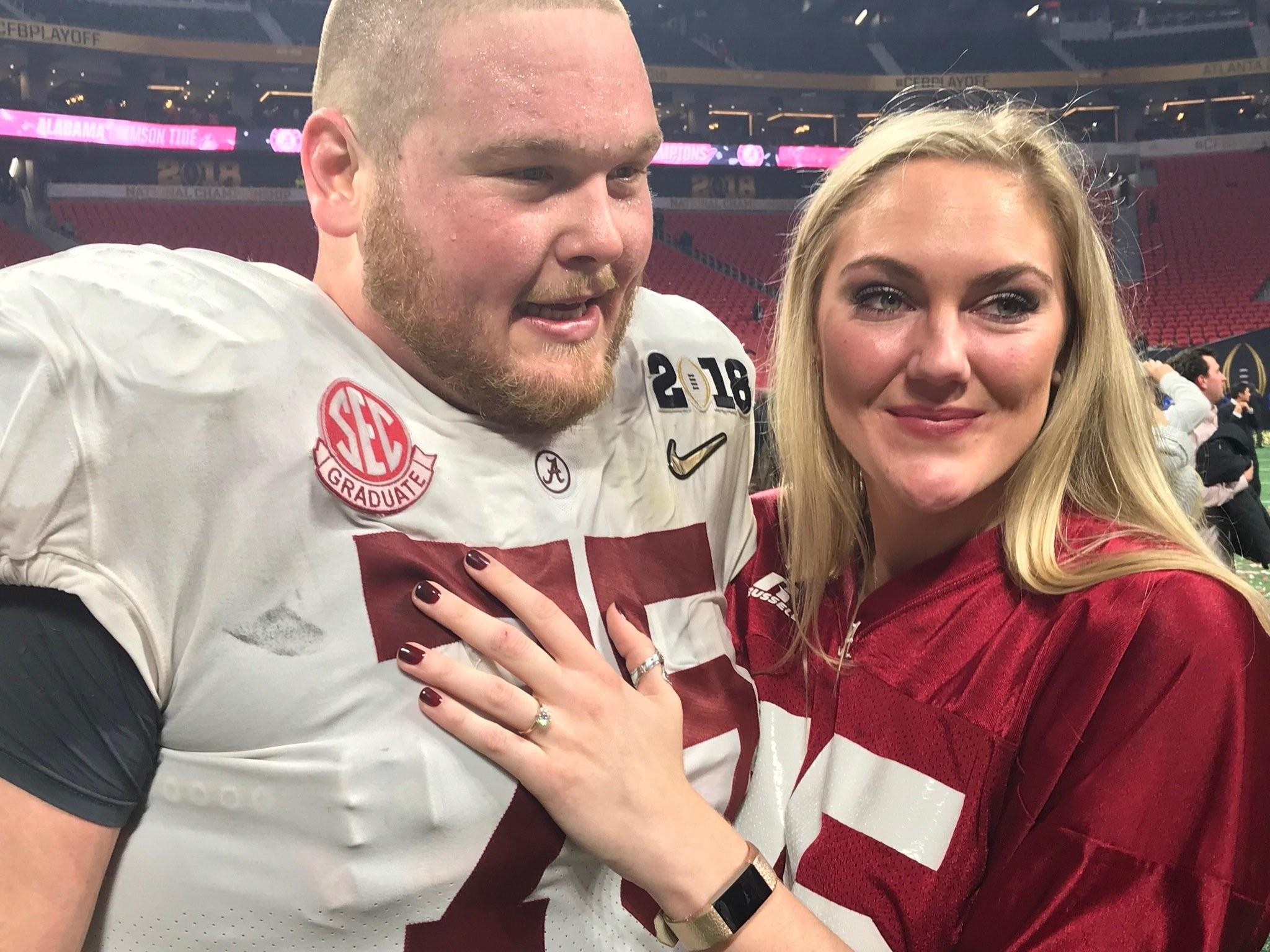 Watch Bradley Bozeman propose to girlfriend after national ...