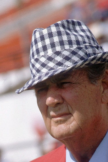 """Oct. 6, 1979: University of Alabama football coach Paul """"Bear"""" Bryant, is shown before a game in Tuscaloosa."""