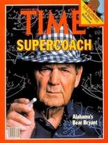 1980: University of Alabama football coach on the cover of Time magazine