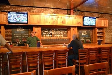 """The recently opened Black Warrior Brewing Company is located at 2216 University Boulevard in the heart of downtown Tuscaloosa. The building has a tap room as well as a """"bonus room"""" upstairs for Foosball, darts and sports viewing. (Ben Flanagan/al.com)"""
