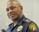 John Brown, Montgomery Police Department chief of staff, will serve as interim MPD chief after chief Kevin Murphy announced his early retirement during a press conference Monday, June 23, 2014, at City Hall in Montgomery, Ala. (Julie Bennett/jbennett@al.com)